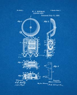 Electric Bell Patent Print