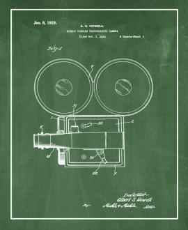 Direct-viewing Photographic Camera Patent Print