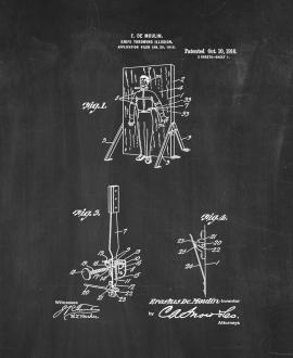 Moulin Magic Knife-throwing Illusion Patent Print