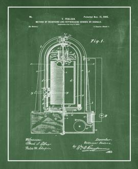 Recording And Reproducing Sounds Patent Print