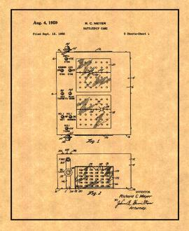 Battleship Game Patent Print