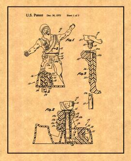 Animated Figure Toy Patent Print