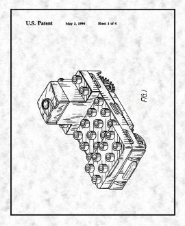 Lego Building Base For A Toy Vehicle Patent Print