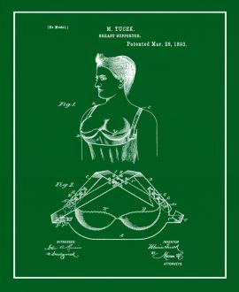Breast Supporter Patent Print