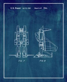 Reconfigurable Toy Plane Patent Print