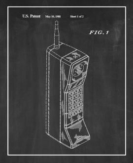 Portable Telephone Patent Print