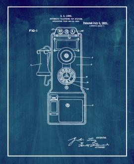 Automatic Telephone Pay-station Patent Print