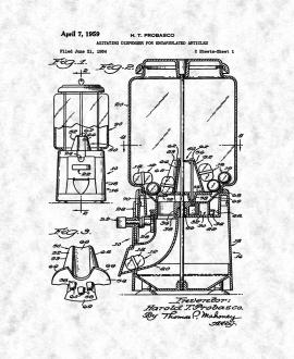 Agitating Dispenser For Encapsulated Articles Patent Print