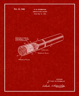 Cheese-filter Cigaret Patent Print