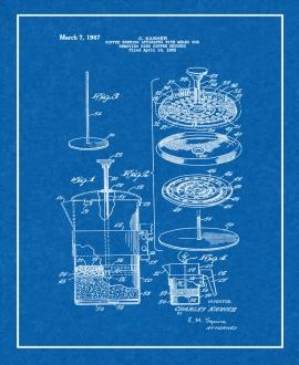 Coffee Brewing Apparatus With Means For Removing Used Coffee Grounds Patent Print