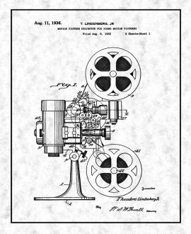 Motion Picture Projector For Sound Motion Pictures Patent Print