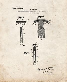 Blade Adjustment For Safety Razors Of The Gillette Type Patent Print