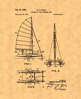 Sailboat Of The Catamaran Type Patent Print