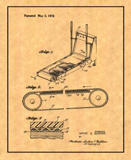 Exercise Treadmill Patent Print