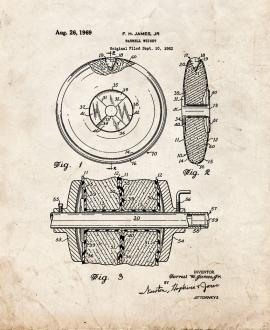Barbell Weight Patent Print