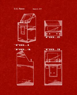 Atari Video Game Cabinet Patent Print