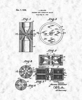 Electron Lens Correction Device Patent Print