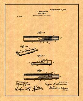 Duck Call Patent Print