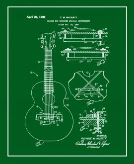 Bridge for Stringed Musical Instruments Patent Print
