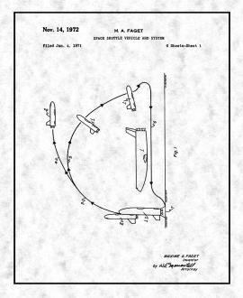 Space Shuttle Vehicle And System Patent Print