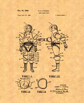 Hard Space Suit Patent Print