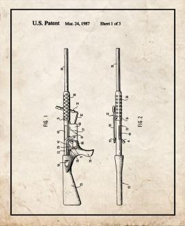 Bolt Action Rifle Patent Print