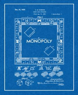 Monopoly Game Patent Print