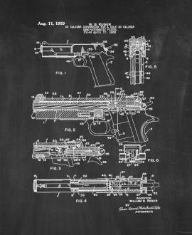 22 Caliber Conversion for A Colt 45 Caliber Semi-automatic Pistol Patent Print
