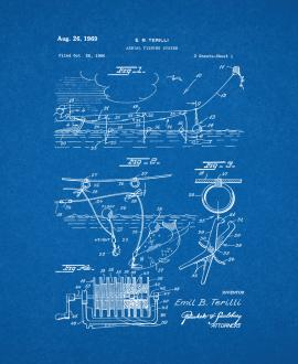 Aerial Fishing System Patent Print