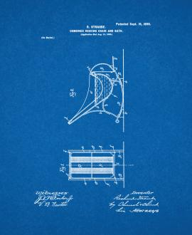 Combined Rocking-chair and Bath Patent Print