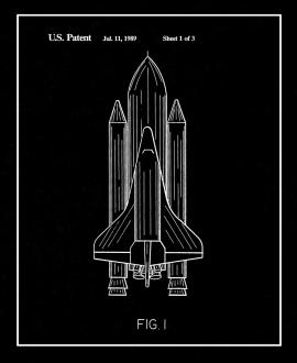 Space Shuttle Patent Print