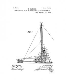 Apparatus For Drilling And Pumping Oil Or Other Wells Patent Print