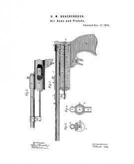 Air Guns And Pistols Patent Print