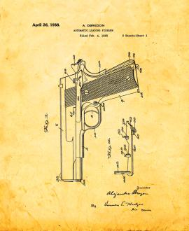 Automatic Loading Firearm Patent Print