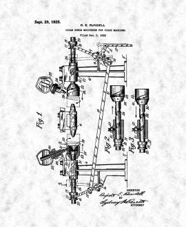 Cigar-bunch Moistener for Cigar Machines Patent Print