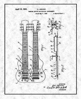 Damping Device for Musical Instruments Patent Print