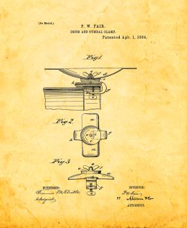 Drum And Cymbal Clamp Patent Print