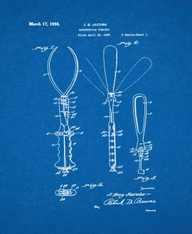 Obstetrical Forceps Patent Print