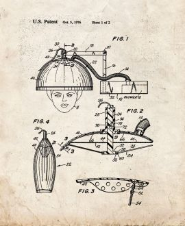 Collapsible Hair Dryer Device or The Like Patent Print