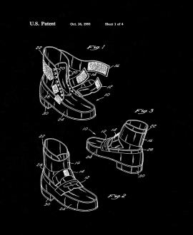 Michael Jackson's Anti-gravity Shoes Patent Print