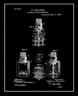 Automatic Fire Sprinkler Patent Print