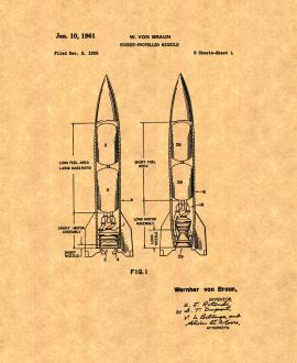 Rocket-propelled Missile Patent Print