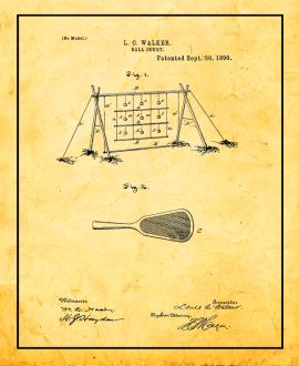 Ball Court Patent Print
