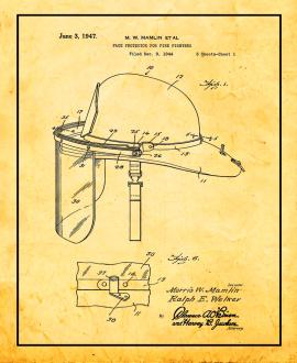 Face Protector for Fire Fighters Patent Print