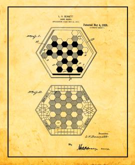 Chinese Checkers Game Patent Print