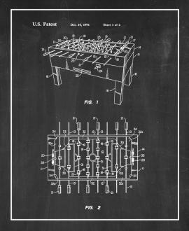 Bumper Table Soccer Game Patent Print
