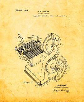 Food Slicing Machine Patent Print