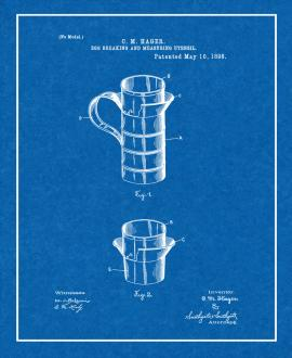 Egg Breaking And Measuring Utensil Patent Print