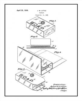 Cellophane Package Patent Print