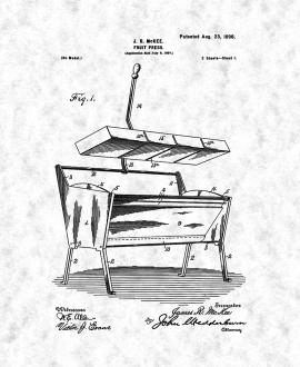 Fruit Press Patent Print